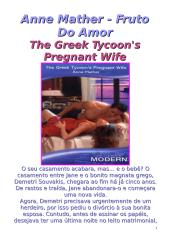 Magnatas Gregos 50 - Anne Mather - Fruto Do Amor (The Greek Tycoon's Pregnant Wife) - msg10.doc