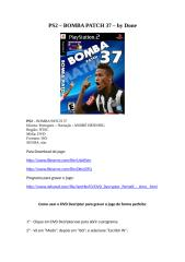 bomba patch 37 - jogo de playstation 2 - ps2 para download - ensinando com gravar - by done.doc
