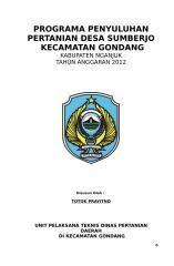programa desa sumberjo kec. gondang 2012.doc