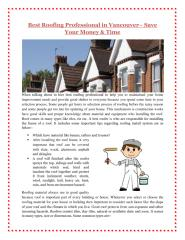 Best roofing professional in Vancouver.pdf