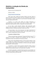 História e evolução do Direito do Consumidor.docx